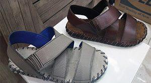 تولید کفش صندل چرم