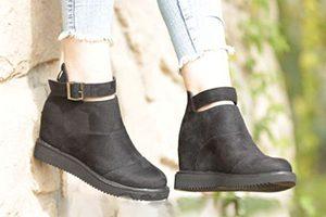 تولیدی کفش نیم بوت لژدار زنانه