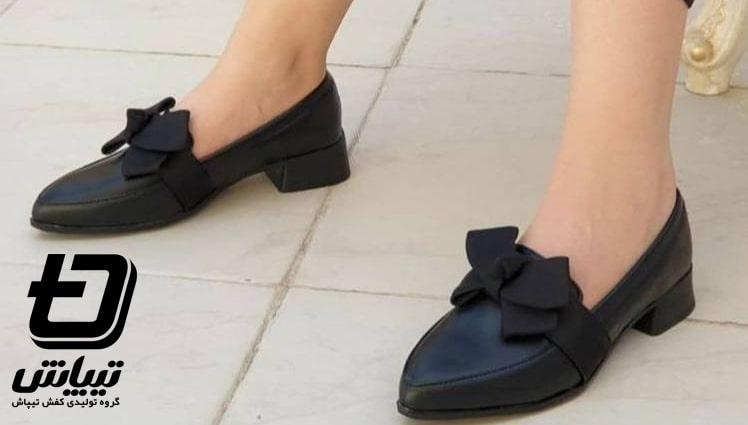 تولیدی کفش کالج زنانه چرم و چرم مصنوعی ارزان